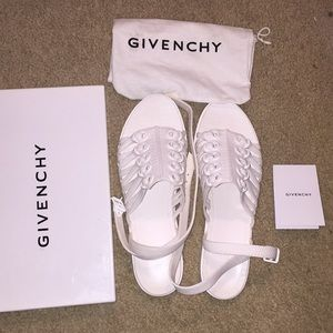 Givenchy ankle strap flat sandals